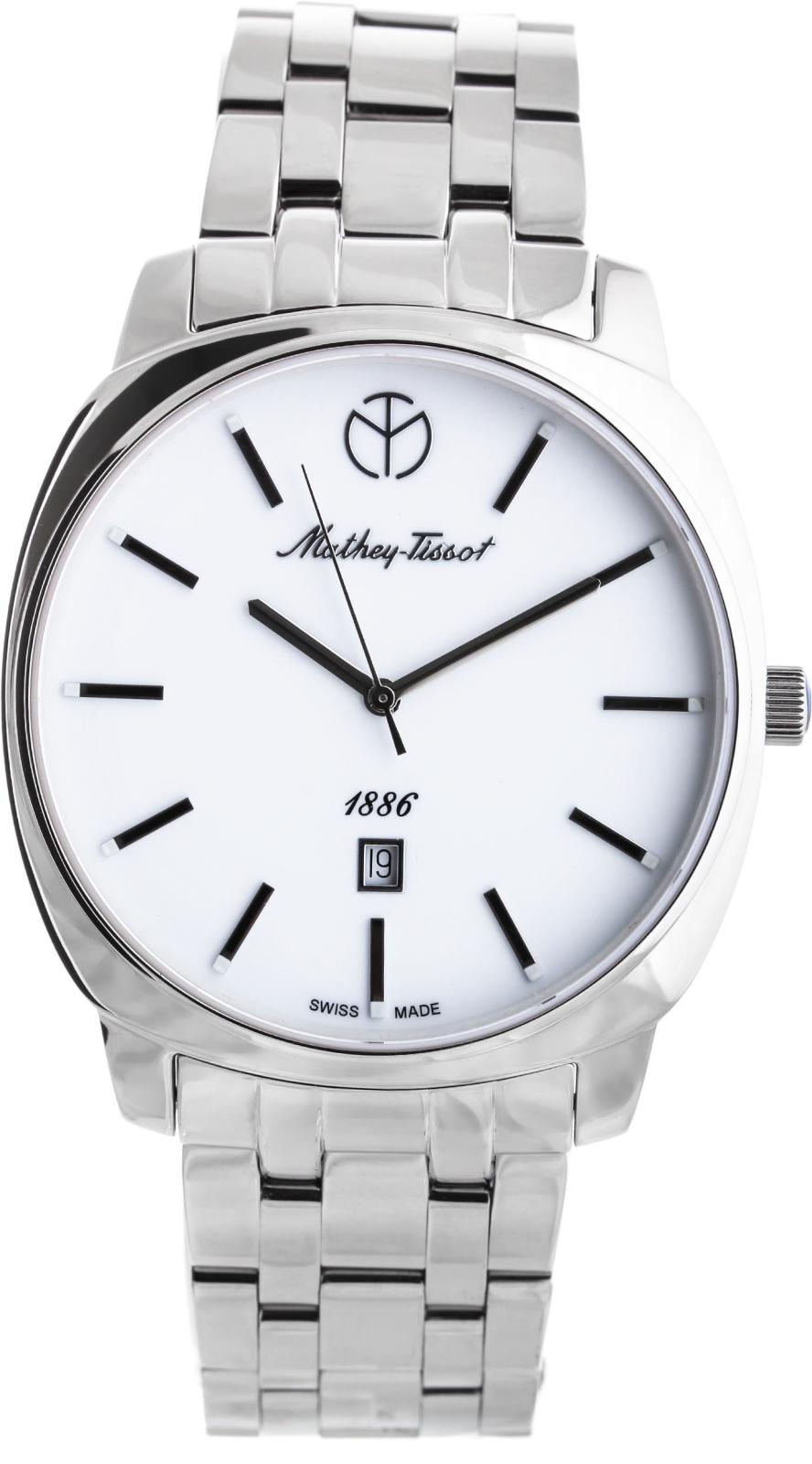 Mathey-Tissot Smart H6940MAIНаручные часы<br>Швейцарские часы Mathey-Tissot Smart H6940MAI<br><br>Пол: Мужские<br>Страна-производитель: Швейцария<br>Механизм: Кварцевый<br>Материал корпуса: Сталь<br>Материал ремня/браслета: Сталь<br>Водозащита, диапазон: None<br>Стекло: Сапфировое<br>Толщина корпуса: None<br>Стиль: None
