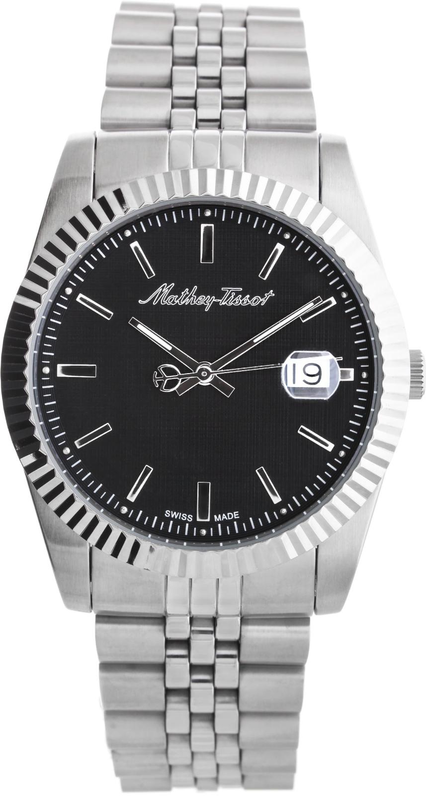 Mathey-Tissot Rolly H810ANНаручные часы<br>Швейцарские часы Mathey-Tissot Rolly H810AN<br><br>Пол: Мужские<br>Страна-производитель: Швейцария<br>Механизм: Кварцевый<br>Материал корпуса: Сталь<br>Материал ремня/браслета: Сталь<br>Водозащита, диапазон: None<br>Стекло: Минеральное<br>Толщина корпуса: None<br>Стиль: None