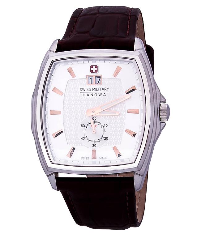 Hanowa Swiss Military Polarstar 06-4173.04.001Наручные часы<br>Швейцарские часы Hanowa Swiss Military Polarstar 06-4173.04.001Представленная модель входит в коллекцию Polarstar. Это модные Мужские часы. Материал корпуса часов — Сталь. Ремень — Кожа. Циферблат часов защищает Минеральное стекло. Часы выдерживают давление на глубине 50 м.<br><br>Для кого?: Мужские<br>Страна-производитель: Швейцария<br>Механизм: Кварцевый<br>Материал корпуса: Сталь<br>Материал ремня/браслета: Кожа<br>Водозащита, диапазон: 20 - 100 м<br>Стекло: Минеральное<br>Толщина корпуса: None<br>Стиль: None