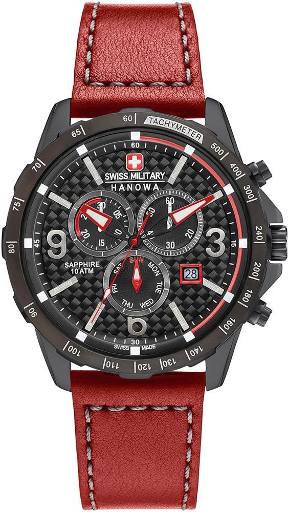 Hanowa Swiss Military Avio Line 06-4251.13.007Наручные часы<br>Швейцарские часы Hanowa Swiss Military Avio Line 06-4251.13.007<br><br>Для кого?: Мужские<br>Страна-производитель: Швейцария<br>Механизм: Кварцевый<br>Материал корпуса: Сталь<br>Материал ремня/браслета: Кожа<br>Водозащита, диапазон: 100 - 150 м<br>Стекло: Сапфировое<br>Толщина корпуса: None<br>Стиль: Спорт
