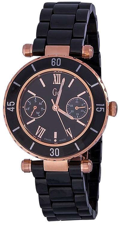 Gc Sport Chic I42004L2SНаручные часы<br>Швейцарские часы Gc Sport Chic I42004L2SДанная модель &amp;mdash; яркий представитель коллекции Sport Chic. Это великолепные женские часы. Материал корпуса часов &amp;mdash; сталь+керамика. В этой модели стоит сапфировое стекло. Водозащита этих часов 100 м.<br><br>Пол: Женские<br>Страна-производитель: Швейцария<br>Механизм: Кварцевый<br>Материал корпуса: Сталь+керамика<br>Материал ремня/браслета: Керамика<br>Водозащита, диапазон: 100 - 150 м<br>Стекло: Сапфировое<br>Толщина корпуса: None<br>Стиль: None