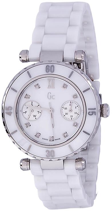 Gc Precious I46003L1Наручные часы<br>Швейцарские часы Gc Precious I46003L1Представленная модель входит в коллекцию Precious. Это настоящие женские часы. Материал корпуса часов &amp;mdash; сталь. В этих часах используется сапфировое стекло. Водозащита этой модели 100 м. Цвет циферблата - белый. Размер данной модели 34мм. При создании этих часов использованы натуральные бриллианты.<br><br>Пол: Женские<br>Страна-производитель: Швейцария<br>Механизм: Кварцевый<br>Материал корпуса: Сталь<br>Материал ремня/браслета: Керамика<br>Водозащита, диапазон: 100 - 150 м<br>Стекло: Сапфировое<br>Толщина корпуса: None<br>Стиль: Мода