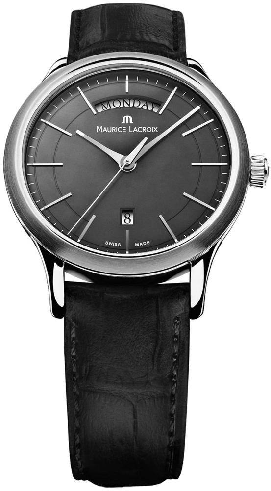 Maurice Lacroix Les Classiques LC1007-SS001-330Наручные часы<br>Швейцарские часы Maurice Lacroix Les Classiques LC1007-SS001-330Данная модель входит в коллекцию Les Classiques. Это стильные Мужские часы. Материал корпуса часов — Сталь. Ремень — Кожа. В этих часах используется Сапфировое стекло. Часы выдерживают давление на глубине 30 м. Основной цвет циферблата Черный. Корпус часов в диаметре 38мм.<br><br>Для кого?: Мужские<br>Страна-производитель: Швейцария<br>Механизм: Кварцевый<br>Материал корпуса: Сталь<br>Материал ремня/браслета: Кожа<br>Водозащита, диапазон: 20 - 100 м<br>Стекло: Сапфировое<br>Толщина корпуса/: <br>Стиль: Классика