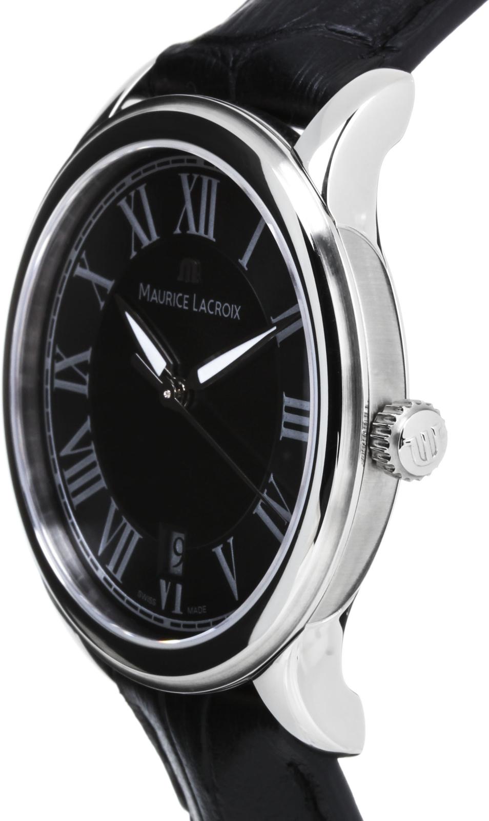 Maurice Lacroix Les Classiques LC1077-SS001-110Наручные часы<br>Швейцарские часы Maurice Lacroix Les Classiques LC1077-SS001-110Представленная модель входит в коллекцию Les Classiques. Это настоящие Мужские часы. Материал корпуса часов — Сталь. Ремень — Кожа. Циферблат часов защищает Сапфировое стекло. Водозащита этой модели 30 м. Цвет циферблата - Белый. Часы обладают корпусом 39мм.<br><br>Для кого?: Мужские<br>Страна-производитель: Швейцария<br>Механизм: Кварцевый<br>Материал корпуса: Сталь<br>Материал ремня/браслета: Кожа<br>Водозащита, диапазон: 20 - 100 м<br>Стекло: Сапфировое<br>Толщина корпуса/: <br>Стиль: Классика