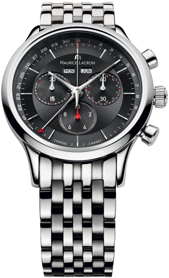 Maurice Lacroix LC1228-SS002-331-1Наручные часы<br>Швейцарские часы Maurice Lacroix Les Classiques Chronographe LC1228-SS002-331-1<br><br>Для кого?: Мужские<br>Страна-производитель: Швейцария<br>Механизм: Кварцевый<br>Материал корпуса: Сталь<br>Материал ремня/браслета: Сталь<br>Водозащита, диапазон: 20 - 100 м<br>Стекло: Сапфировое<br>Толщина корпуса/: <br>Стиль: Спорт