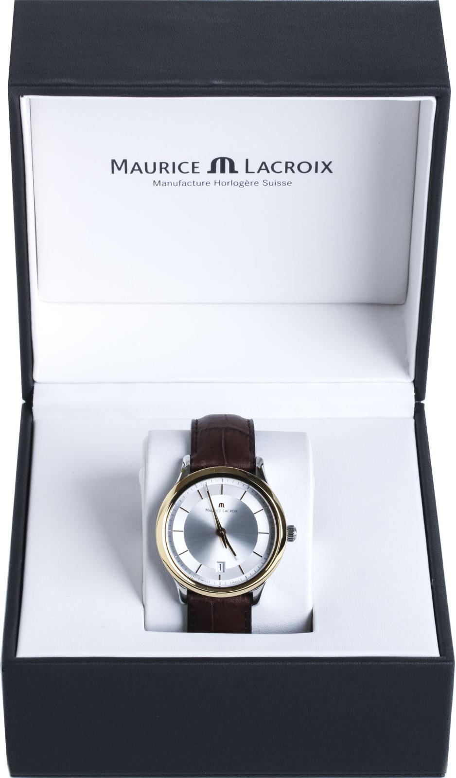 Maurice Lacroiх Les Classiques LC1237-PVY11-130Наручные часы<br>Швейцарские часы Maurice Lacroiх Les Classiques LC1237-PVY11-130Представленная модель входит в коллекцию Les Classiques. Это стильные Мужские часы. Материал корпуса часов &amp;mdash; Сталь+Золото. Ремень &amp;mdash; Кожа. В этой модели стоит Сапфировое стекло. Водозащита этих часов 30 м. Цвет циферблата - Белый. Из основных функций на циферблате представлены: часы, минуты, секунды. В данной модели используются следующие усложнения: дата, . Размер данной модели 38мм.<br><br>Пол: Мужские<br>Страна-производитель: Швейцария<br>Механизм: Кварцевый<br>Материал корпуса: Сталь+Золото<br>Материал ремня/браслета: Кожа<br>Водозащита, диапазон: 20 - 100 м<br>Стекло: Сапфировое<br>Толщина корпуса: None<br>Стиль: Классика