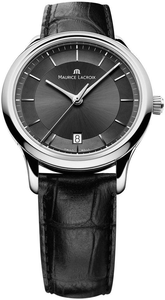 Maurice Lacroix Les Classiques LC1237-SS001-330Наручные часы<br>Швейцарские часы Maurice Lacroix Les Classiques LC1237-SS001-330Часы входят в модельный ряд коллекции Les Classiques. Это настоящие Мужские часы. Материал корпуса часов &amp;mdash; Сталь. Ремень &amp;mdash; Кожа. В этой модели стоит Сапфировое стекло. Часы выдерживают давление на глубине 30 м. Основной цвет циферблата Черный. Из основных функций на циферблате представлены: часы, минуты, секунды. В этих часах используются такие усложнения как дата, . Часы обладают корпусом 38мм.<br><br>Пол: Мужские<br>Страна-производитель: Швейцария<br>Механизм: Кварцевый<br>Материал корпуса: Сталь<br>Материал ремня/браслета: Кожа<br>Водозащита, диапазон: 20 - 100 м<br>Стекло: Сапфировое<br>Толщина корпуса: None<br>Стиль: Классика