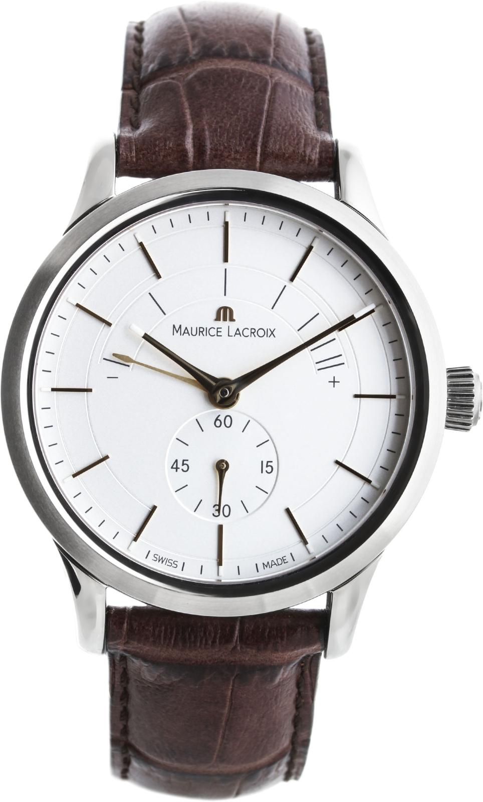 Maurice Lacroix Les Classiques LC7008-SS001-130Наручные часы<br>Швейцарские часы Maurice Lacroix Les Classiques&amp;nbsp;LC7008-SS001-130Данная модель &amp;mdash; яркий представитель коллекции Les Classiques. Это настоящие Мужские часы. Материал корпуса часов &amp;mdash; Сталь. Ремень &amp;mdash; Кожа. В этих часах используется Сапфировое стекло. Водозащита этой модели 30 м. Диаметр корпуса 32мм.<br><br>Пол: Мужские<br>Страна-производитель: Швейцария<br>Механизм: Механический<br>Материал корпуса: Сталь<br>Материал ремня/браслета: Кожа<br>Водозащита, диапазон: 20 - 100 м<br>Стекло: Сапфировое<br>Толщина корпуса: None<br>Стиль: None