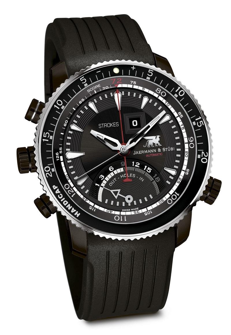 Jaermann &amp; Stubi Hole in One HO5TНаручные часы<br>Швейцарские часы Jaermann &amp;amp; Stubi Hole in One HO5TМодель входит в коллекцию Hole in One. Это великолепные мужские часы. Материал корпуса часов &amp;mdash; сталь. Циферблат часов защищает сапфировое стекло. Водозащита этих часов 100 м. Диаметр корпуса 44мм.<br><br>Пол: Мужские<br>Страна-производитель: Швейцария<br>Механизм: Механический<br>Материал корпуса: Сталь<br>Материал ремня/браслета: Каучук<br>Водозащита, диапазон: 100 - 150 м<br>Стекло: Сапфировое<br>Толщина корпуса: None<br>Стиль: None
