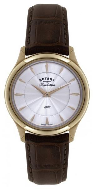 Rotary Revelation LS02966/06/16Наручные часы<br>Швейцарские часы Rotary Revelation LS02966/06/16<br><br>Пол: Мужские<br>Страна-производитель: Швейцария<br>Механизм: Кварцевый<br>Материал корпуса: Сталь<br>Материал ремня/браслета: Кожа<br>Водозащита, диапазон: 20 - 100 м<br>Стекло: Сапфировое<br>Толщина корпуса: 11 мм<br>Стиль: Классика