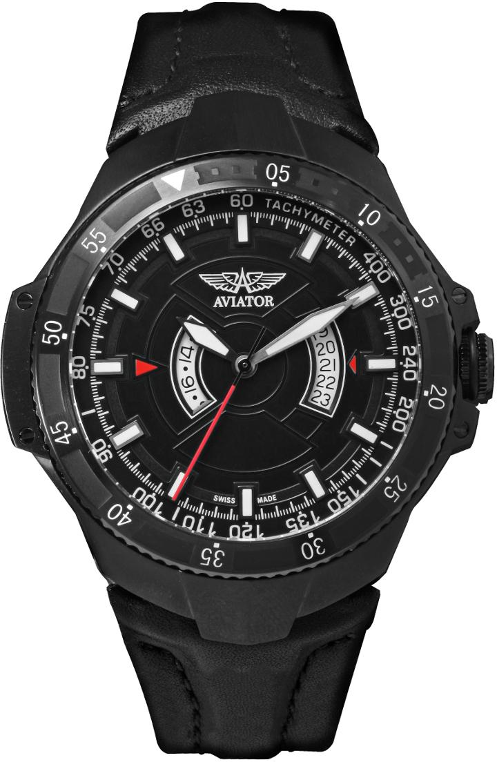 Aviator MIG-29 GMT M.1.01.5.001.4   Наручные часы<br>Швейцарские часы Aviator MIG-29 GMT M.1.01.5.001.4Часы входят в модельный ряд коллекции MIG-29 GMT. Это Мужские часы. Материал корпуса часов — Сталь. Ремень — Кожа. Циферблат часов защищает Сапфировое стекло. Водозащита - 100 м. Основной цвет циферблата Черный. Циферблат часов содержит часы, минуты, секунды. В этой модели используются такие усложнения как дата, второе поясное время, . Корпус часов в диаметре 44мм.<br><br>Для кого?: Мужские<br>Страна-производитель: Швейцария<br>Механизм: Кварцевый<br>Материал корпуса: Сталь<br>Материал ремня/браслета: Кожа<br>Водозащита, диапазон: 100 - 150 м<br>Стекло: Сапфировое<br>Толщина корпуса/: <br>Стиль: Спорт