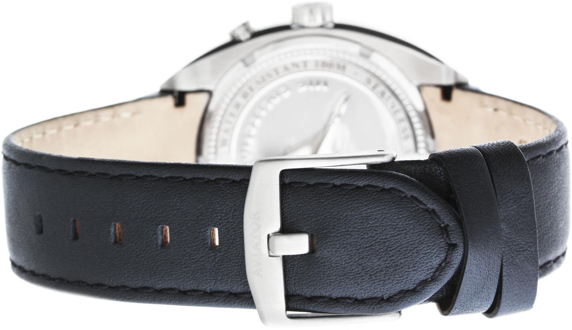 Aviator MIG-21 Fishbed M.1.14.0.086.4Наручные часы<br>Швейцарские часы Aviator MIG-21 Fishbed M.1.14.0.086.4Часы принадежат коллекции MIG-21 Fishbed. Это настоящие Мужские часы. Материал корпуса часов — Сталь. Ремень — Кожа. Циферблат часов защищает Сапфировое стекло. Водозащита - 100 м.<br><br>Пол: Мужские<br>Страна-производитель: Швейцария<br>Механизм: Кварцевый<br>Материал корпуса: Сталь<br>Материал ремня/браслета: Кожа<br>Водозащита, диапазон: 100 - 150 м<br>Стекло: Сапфировое<br>Толщина корпуса: None<br>Стиль: None