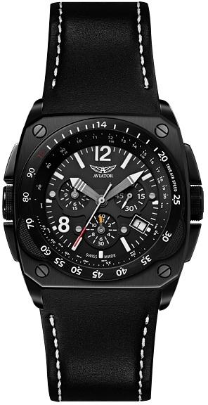 Aviator Mig-29 Cocpit Chrono M.2.04.5.009.4Наручные часы<br>Швейцарские часы Aviator Mig-29 Cocpit Chrono M.2.04.5.009.4<br><br>Пол: Мужские<br>Страна-производитель: Швейцария<br>Механизм: Кварцевый<br>Материал корпуса: Сталь<br>Материал ремня/браслета: Кожа<br>Водозащита, диапазон: 100 - 150 м<br>Стекло: Сапфировое<br>Толщина корпуса: 12 мм<br>Стиль: Классика