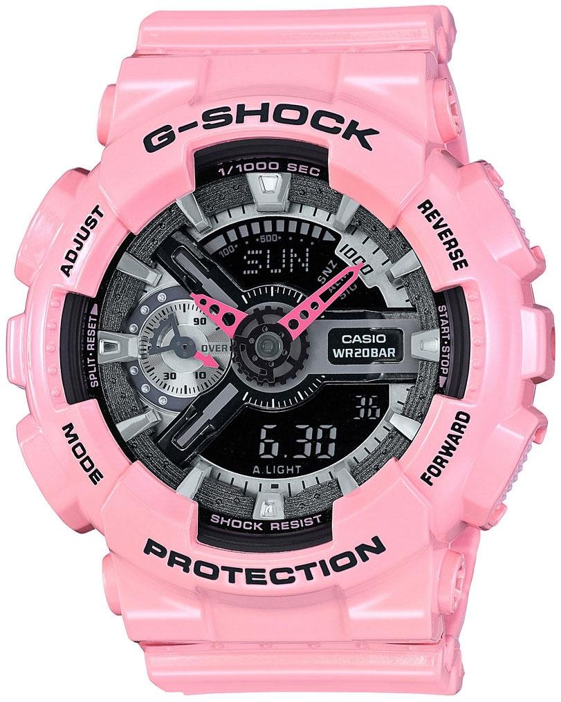 Casio G-shock S Series GMA-S110MP-4A2Наручные часы<br>Японские часы Casio G-shock S Series GMA-S110MP-4A2<br><br>Пол: Женские<br>Страна-производитель: Япония<br>Механизм: Кварцевый<br>Материал корпуса: Пластик<br>Материал ремня/браслета: Каучук<br>Водозащита, диапазон: None<br>Стекло: Минеральное<br>Толщина корпуса: 15,8 мм<br>Стиль: None