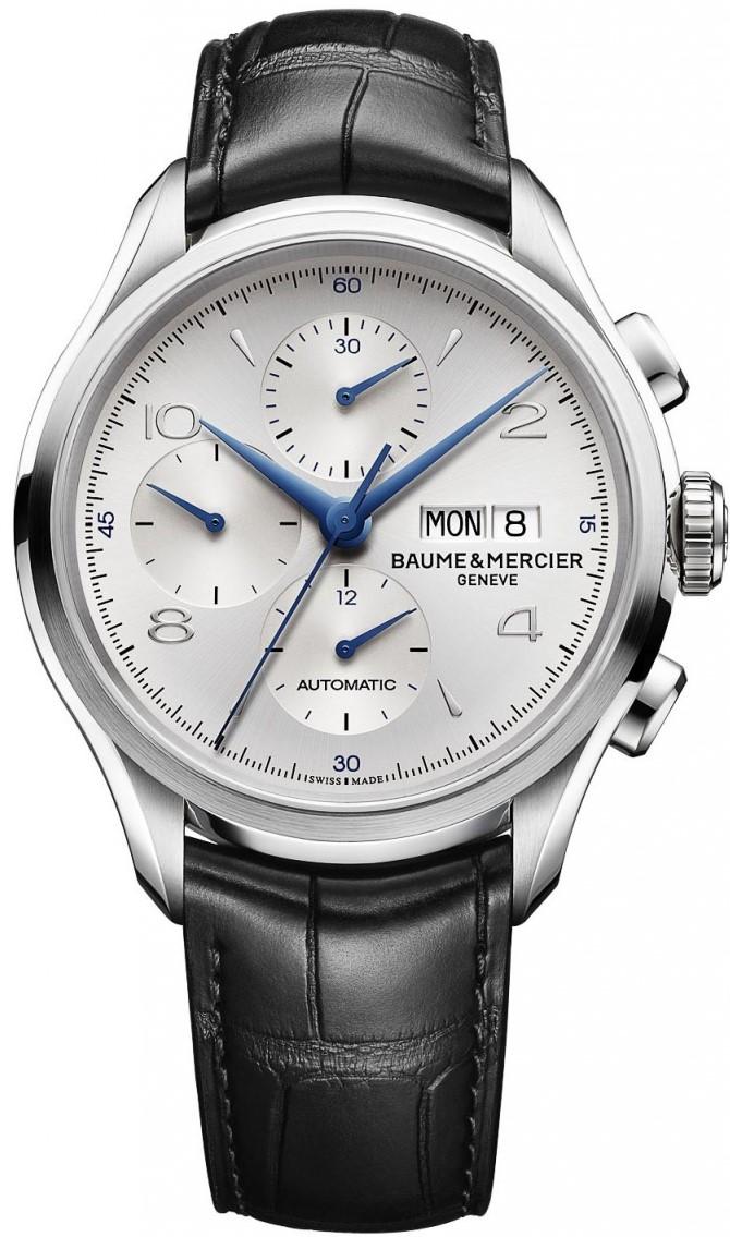 Baume&amp;Mercier Clifton MOA10123Наручные часы<br>Швейцарские часы Baume&amp;amp;Mercier Clifton MOA10123<br><br>Пол: Мужские<br>Страна-производитель: Швейцария<br>Механизм: Механический<br>Материал корпуса: Сталь<br>Материал ремня/браслета: Кожа<br>Водозащита, диапазон: 20 - 100 м<br>Стекло: Сапфировое<br>Толщина корпуса: None<br>Стиль: Классика
