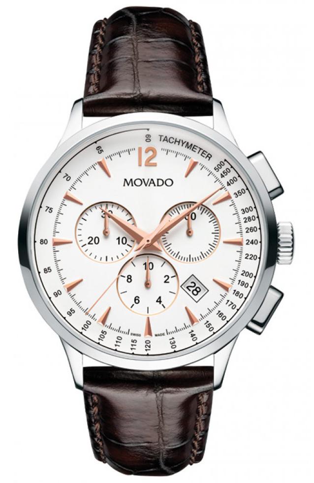Movado Circa 0606576Наручные часы<br>Швейцарские часы Movado Circa 0606576<br><br>Пол: Мужские<br>Страна-производитель: Швейцария<br>Механизм: Кварцевый<br>Материал корпуса: Сталь<br>Материал ремня/браслета: Кожа<br>Водозащита, диапазон: 20 - 100 м<br>Стекло: Сапфировое<br>Толщина корпуса: None<br>Стиль: Классика
