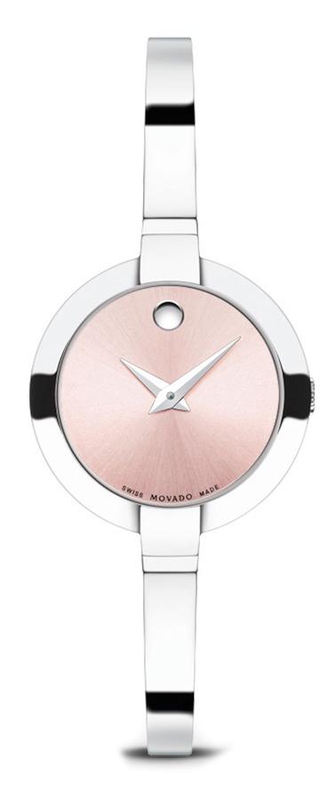 Movado Bela 606596Наручные часы<br>Швейцарские часы Movado Bela 606596Данная модель — яркий представитель коллекции Bela. Это настоящие женские часы. Материал корпуса часов — сталь. В этой модели стоит сапфировое стекло. Часы выдерживают давление на глубине 30 м. Основной цвет циферблата розовый. Циферблат содержит часы, минуты. Диаметр корпуса часов составляет 30мм.<br><br>Для кого?: Женские<br>Страна-производитель: Швейцария<br>Механизм: Кварцевый<br>Материал корпуса: Сталь<br>Материал ремня/браслета: Сталь<br>Водозащита, диапазон: 20 - 100 м<br>Стекло: Сапфировое<br>Толщина корпуса: None<br>Стиль: Мода