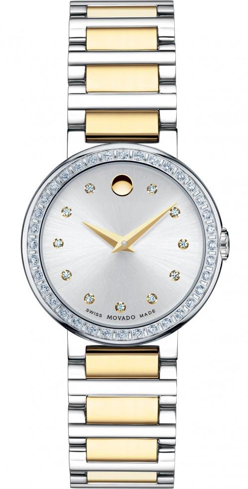 Movado Concerto 0606794Наручные часы<br>Швейцарские часы Movado Concerto 0606794<br><br>Пол: Женские<br>Страна-производитель: Швейцария<br>Механизм: Кварцевый<br>Материал корпуса: Сталь<br>Материал ремня/браслета: Сталь+золото<br>Водозащита, диапазон: 20 - 100 м<br>Стекло: Сапфировое<br>Толщина корпуса: None<br>Стиль: Классика