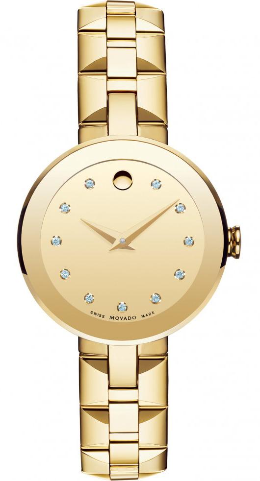 Movado Sapphire 0606816Наручные часы<br>Швейцарские часы Movado Sapphire 0606816<br><br>Пол: Женские<br>Страна-производитель: Швейцария<br>Механизм: Кварцевый<br>Материал корпуса: Сталь<br>Материал ремня/браслета: Сталь<br>Водозащита, диапазон: 20 - 100 м<br>Стекло: Сапфировое<br>Толщина корпуса: None<br>Стиль: Классика