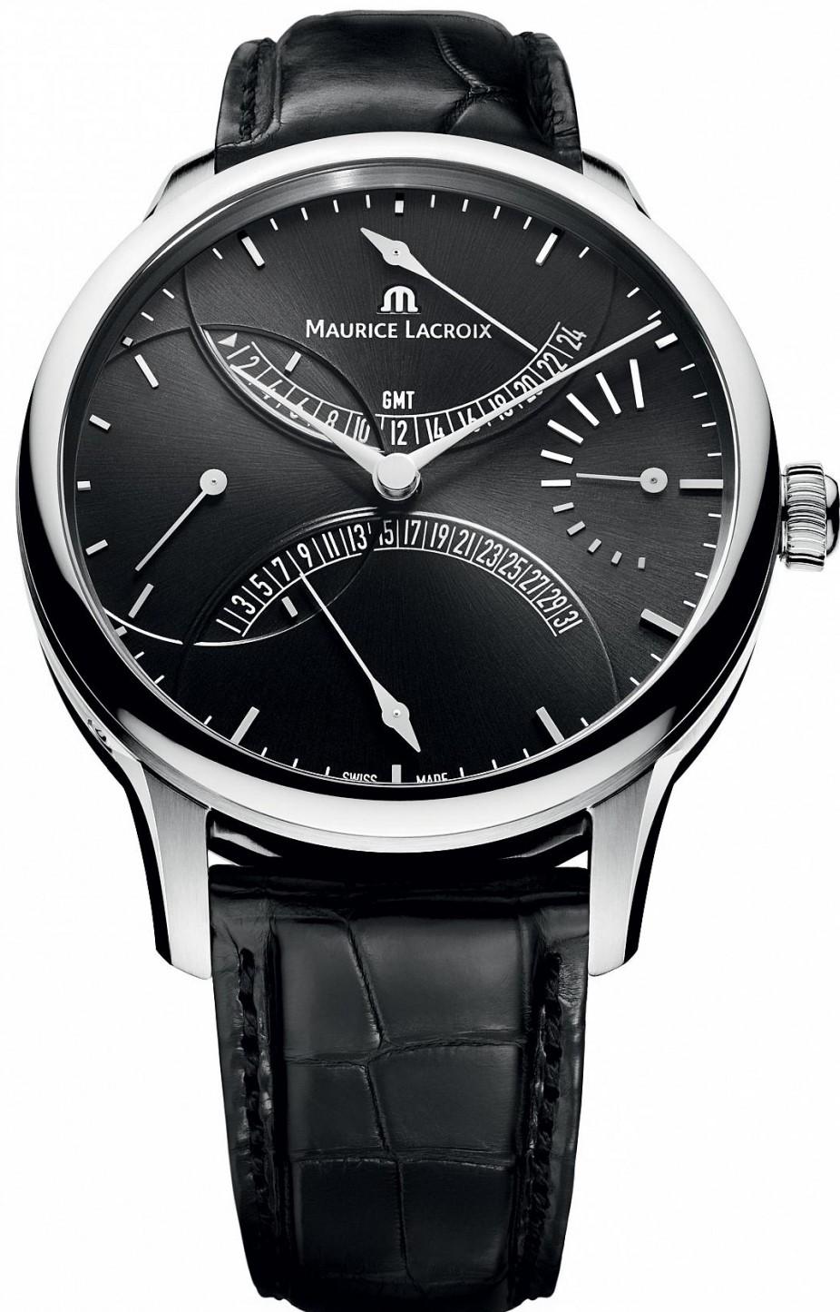 Maurice Lacroix Masterpiece MP6518-SS001-330Наручные часы<br>Швейцарские часы Maurice Lacroix Masterpiece MP6518-SS001-330<br><br>Пол: Мужские<br>Страна-производитель: Швейцария<br>Механизм: Механический<br>Материал корпуса: Сталь<br>Материал ремня/браслета: Кожа<br>Водозащита, диапазон: 20 - 100 м<br>Стекло: Сапфировое<br>Толщина корпуса: None<br>Стиль: Классика