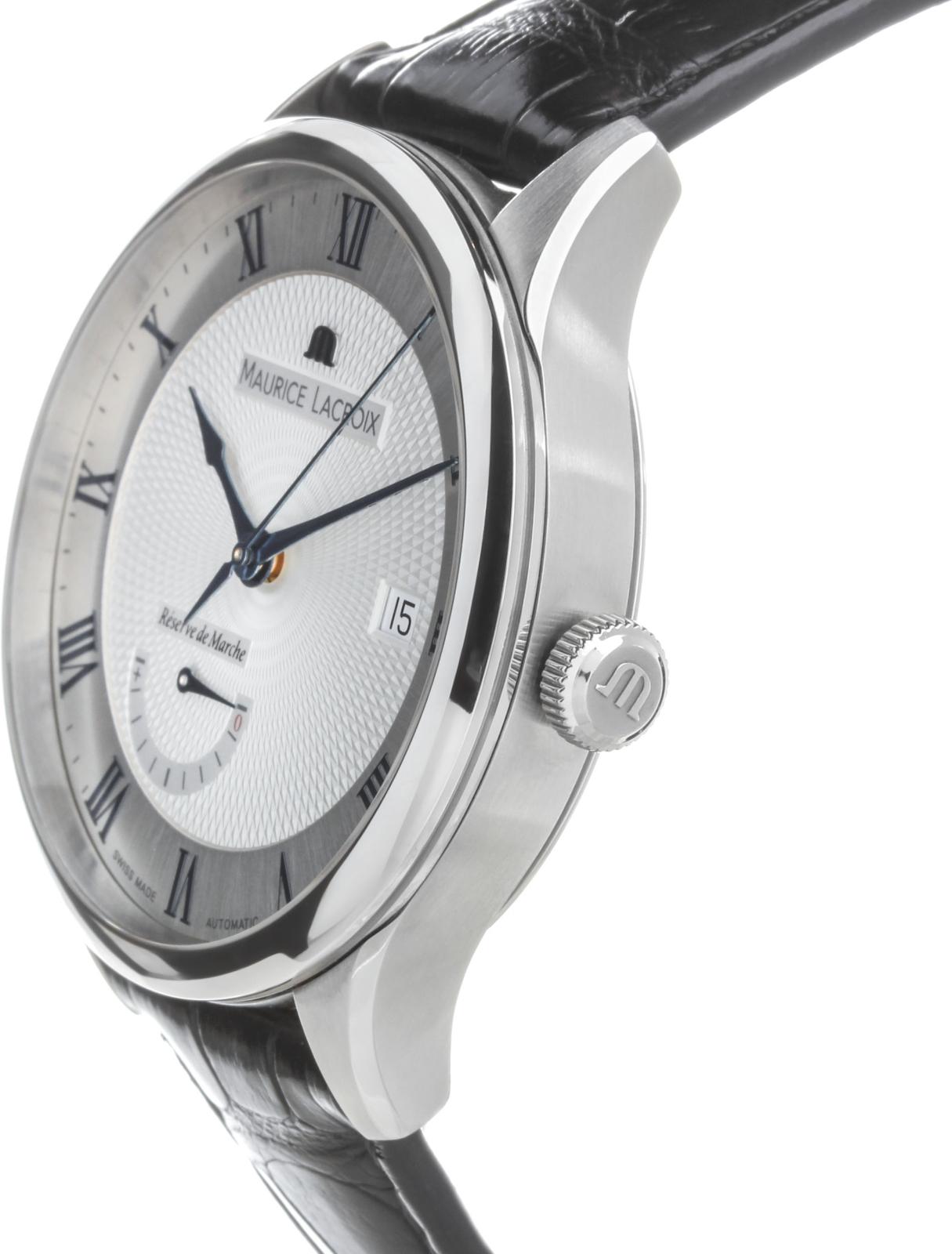 Maurice Lacroix Masterpiece MP6807-SS001-110Наручные часы<br>Швейцарские часы Maurice Lacroix Masterpiece MP6807-SS001-110Часы принадежат коллекции Masterpiece. Это великолепные Мужские часы. Материал корпуса часов — Сталь. Ремень — Кожа. Стекло - Сапфировое. Водозащита этих часов 50 м. Диаметр корпуса часов составляет 40мм.<br><br>Пол: Мужские<br>Страна-производитель: Швейцария<br>Механизм: Механический<br>Материал корпуса: Сталь<br>Материал ремня/браслета: Кожа<br>Водозащита, диапазон: 20 - 100 м<br>Стекло: Сапфировое<br>Толщина корпуса: None<br>Стиль: None