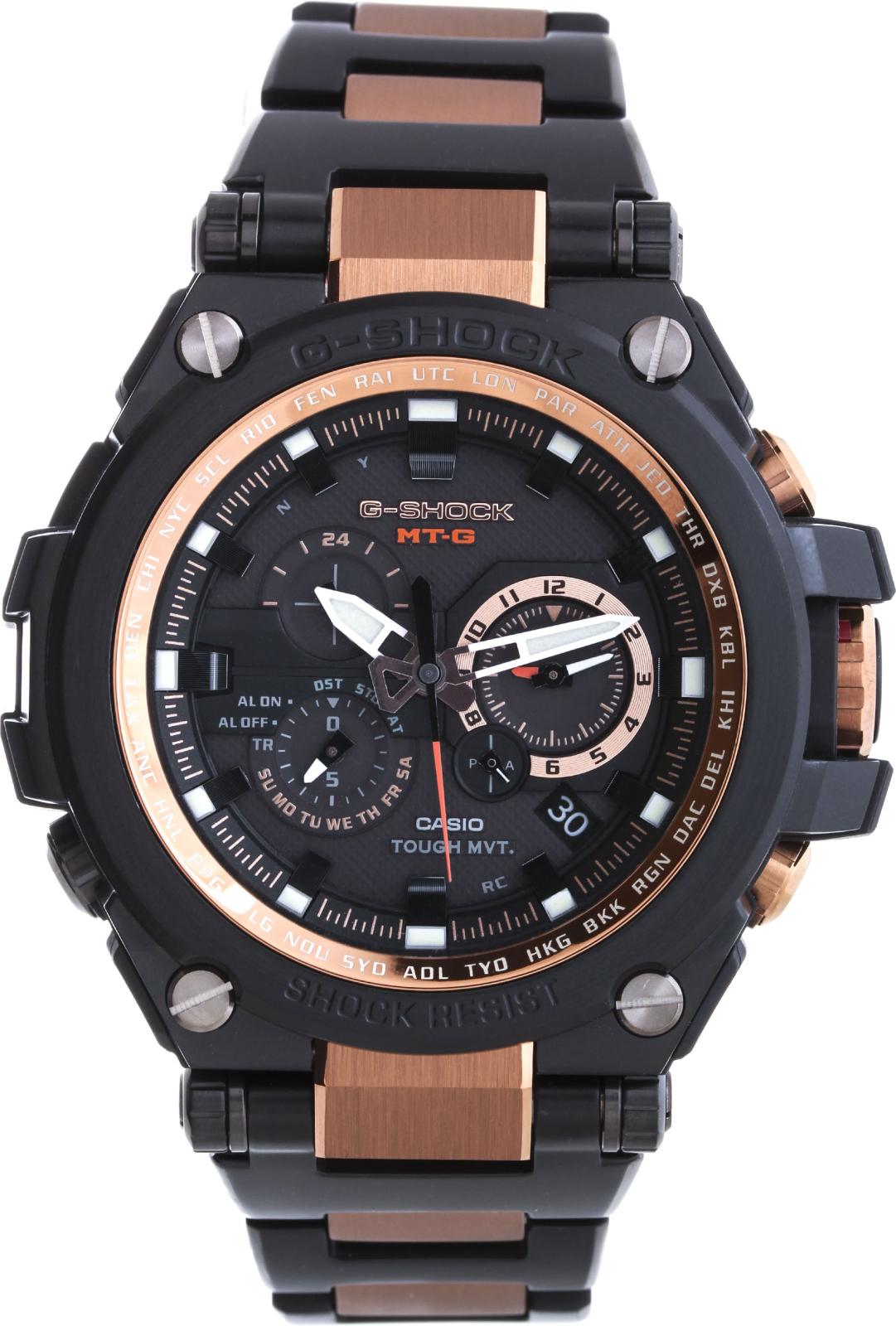 Casio G-shock  MT-G MTG-S1000BD-5AНаручные часы<br>Японские часы Casio G-shock  MT-G MTG-S1000BD-5A<br><br>Пол: Мужские<br>Страна-производитель: Япония<br>Механизм: Кварцевый<br>Материал корпуса: Сталь+пластик<br>Материал ремня/браслета: Сталь<br>Водозащита, диапазон: 200 - 800 м<br>Стекло: Сапфировое<br>Толщина корпуса: 16 мм<br>Стиль: Классика