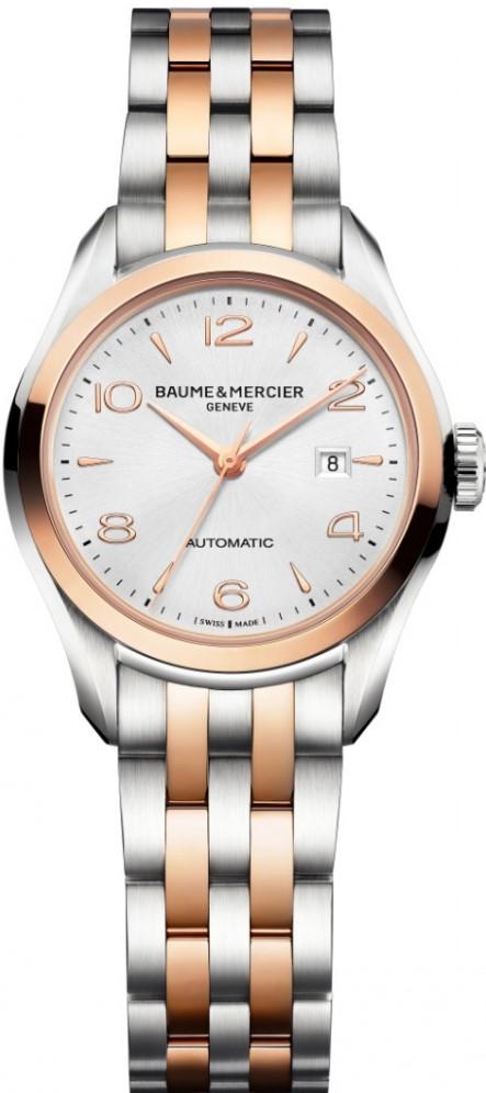 Baume&amp;Mercier Clifton MOA10152Наручные часы<br>Швейцарские часы Baume&amp;amp;Mercier &amp;nbsp;Clifton MOA10152<br><br>Пол: Женские<br>Страна-производитель: Швейцария<br>Механизм: Механический<br>Материал корпуса: Золото+сталь<br>Материал ремня/браслета: Сталь+золото<br>Водозащита, диапазон: 20 - 100 м<br>Стекло: Сапфировое<br>Толщина корпуса: None<br>Стиль: Классика