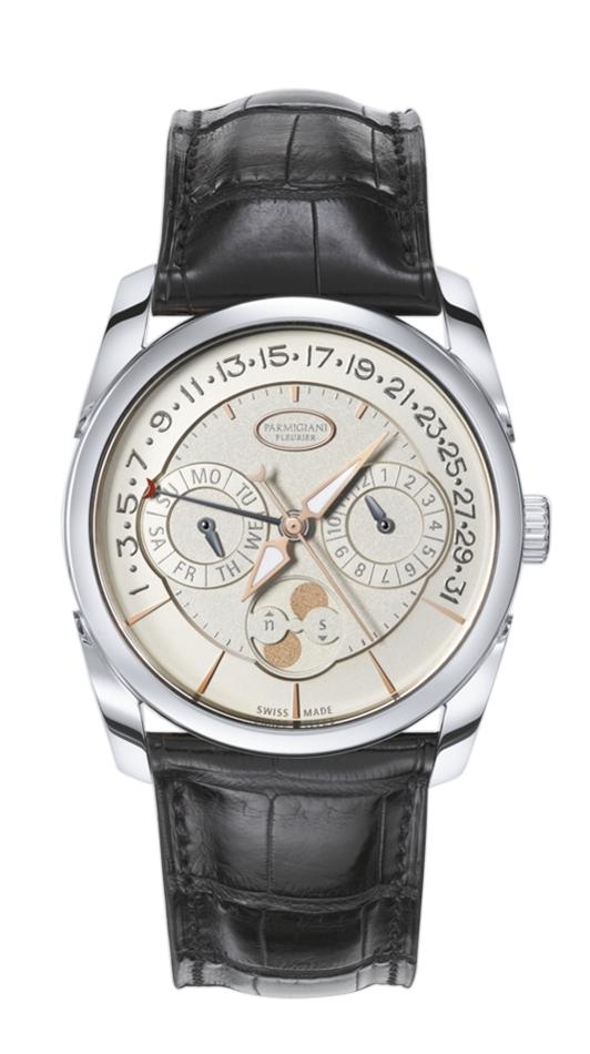Parmigiani Tonda Quator PFC272-1202400-HA1241Наручные часы<br>Швейцарские часы Parmigiani Tonda Quator PFC272-1202400-HA1241Данная модель входит в коллекцию Tonda Quator. Это стильные мужские часы. Материал корпуса часов — золото. Стекло - сапфировое. Водозащита - 30 м.<br><br>Для кого?: Мужские<br>Страна-производитель: Швейцария<br>Механизм: Механический<br>Материал корпуса: Золото<br>Материал ремня/браслета: Кожа<br>Водозащита, диапазон: 20 - 100 м<br>Стекло: Сапфировое<br>Толщина корпуса/: <br>Стиль/: