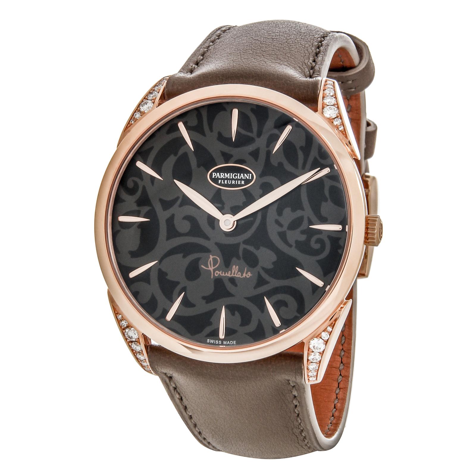PARMIGIANI Tonda PFC267-1070300-HC6121Наручные часы<br>Швейцарские часы PARMIGIANI Tonda PFC267-1070300-HC6121<br><br>Пол: Женские<br>Страна-производитель: Швейцария<br>Механизм: Механический<br>Материал корпуса: Розовое золото 18К<br>Материал ремня/браслета: Кожа<br>Водозащита, диапазон: 20 - 100 м<br>Стекло: Сапфировое<br>Толщина корпуса: 8 мм<br>Стиль: Классика