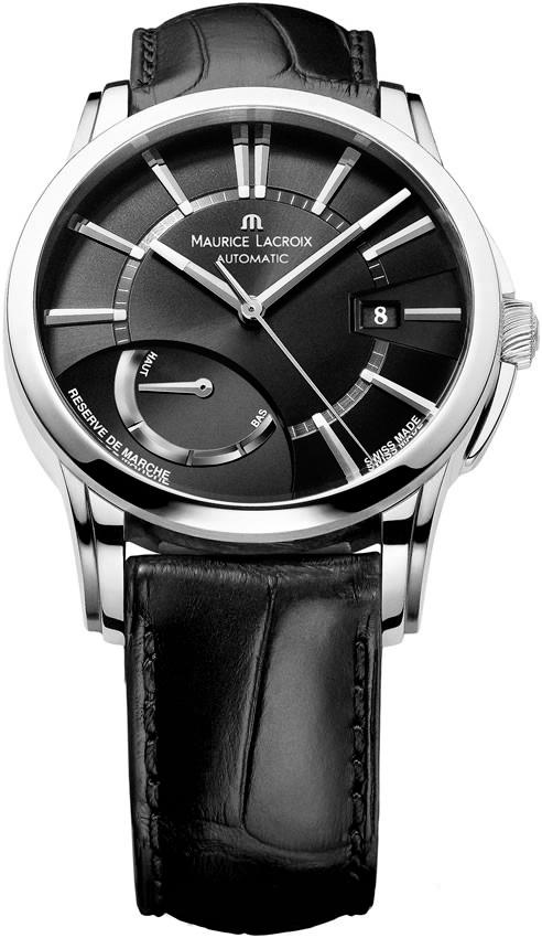 Maurice Lacroix PT6168-SS001-331-1Наручные часы<br>Швейцарские часы Maurice LacroixPontos R?serve de MarchePT6168-SS001-331-1Представленная модель входит в коллекцию Pontos R?serve de Marche. Это мужские часы. Материал корпуса часов — сталь. Циферблат часов защищает сапфировое стекло. Часы этой модели обладают водозащитой 50 м. В этих часах используются такие усложнения индикатор запаса хода. Часы обладают корпусом 40 мм.<br><br>Для кого?: Мужские<br>Страна-производитель: Швейцария<br>Механизм: Механический<br>Материал корпуса: Сталь<br>Материал ремня/браслета: Кожа<br>Водозащита, диапазон: 20 - 100 м<br>Стекло: Сапфировое<br>Толщина корпуса: None<br>Стиль: Классика