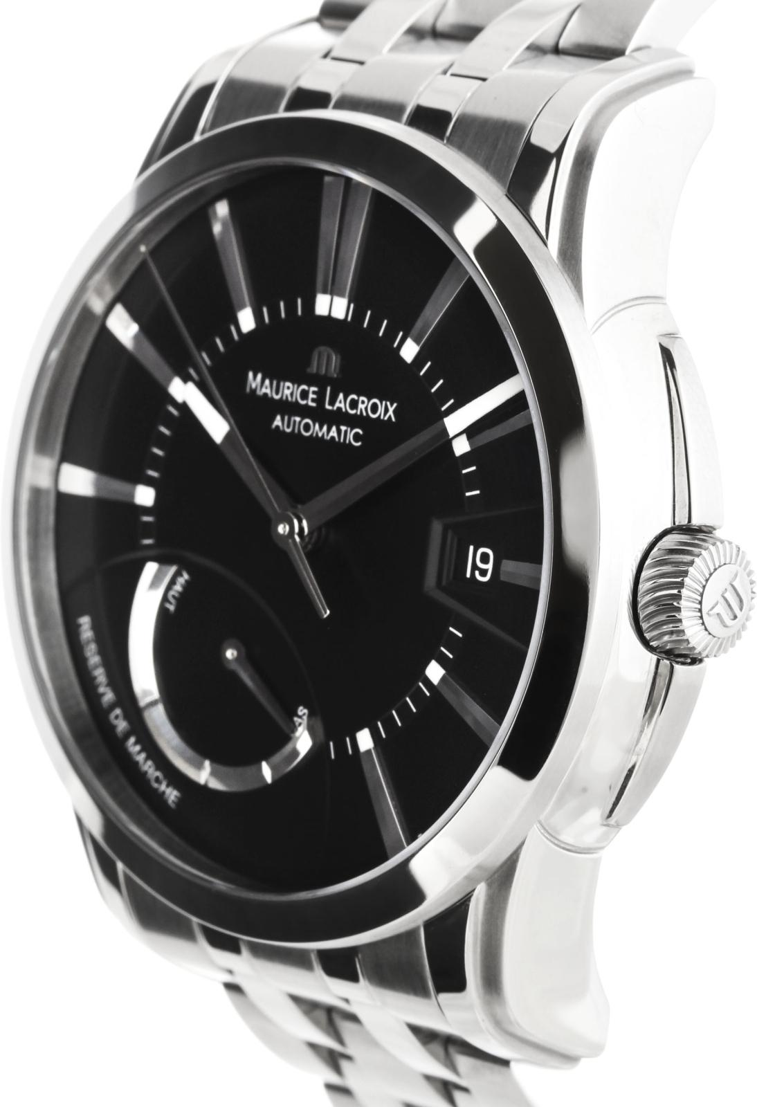 Maurice Lacroix Pontos PT6168-SS002-331Наручные часы<br>Швейцарские часы Maurice Lacroix PontosPT6168-SS002-331Часы принадежат коллекции Pontos. Это стильные Мужские часы. Материал корпуса часов — Сталь. Браслет — Сталь. В этих часах используется Сапфировое стекло. Часы этой модели обладают водозащитой 50 м.<br><br>Пол: Мужские<br>Страна-производитель: Швейцария<br>Механизм: Механический<br>Материал корпуса: Сталь<br>Материал ремня/браслета: Сталь<br>Водозащита, диапазон: 20 - 100 м<br>Стекло: Сапфировое<br>Толщина корпуса: None<br>Стиль: None