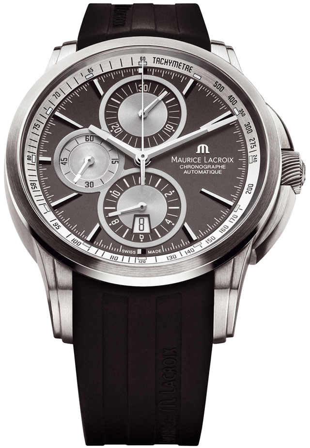 Maurice Lacroix Pontos PT6188-TT031-830Наручные часы<br>Швейцарские часы Maurice Lacroix Pontos PT6188-TT031-830Часы входят в модельный ряд коллекции Pontos. Это Мужские часы. Материал корпуса часов — Сталь. Браслет — Каучук. В этих часах используется Сапфировое стекло. Водозащита этих часов 50 м.<br><br>Для кого?: Мужские<br>Страна-производитель: Швейцария<br>Механизм: Механический<br>Материал корпуса: Сталь<br>Материал ремня/браслета: Каучук<br>Водозащита, диапазон: 20 - 100 м<br>Стекло: Сапфировое<br>Толщина корпуса/: <br>Стиль/: