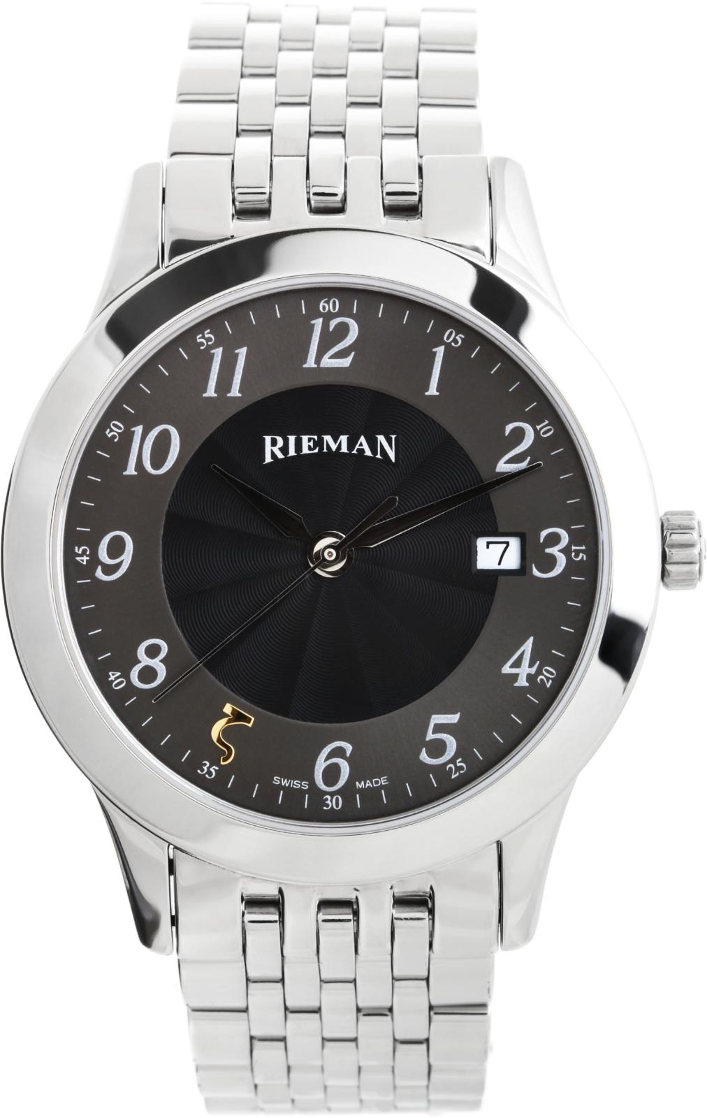 Rieman Radical R1040.132.012Наручные часы<br>Швейцарские часы Rieman Radical R1040.132.012Часы принадежат коллекции Radical. Это настоящие мужские часы. Материал корпуса часов — сталь. В этих часах используется сапфировое стекло. Часы этой модели обладают водозащитой 30 м. Цвет циферблата - черный. Из основных функций на циферблате представлены: часы, минуты, секунды. В этих часах используются такие усложнения как дата, . Диаметр корпуса данной модели 40мм.<br><br>Пол: Мужские<br>Страна-производитель: Швейцария<br>Механизм: Кварцевый<br>Материал корпуса: Сталь<br>Материал ремня/браслета: Сталь<br>Водозащита, диапазон: 20 - 100 м<br>Стекло: Сапфировое<br>Толщина корпуса: None<br>Стиль: Классика