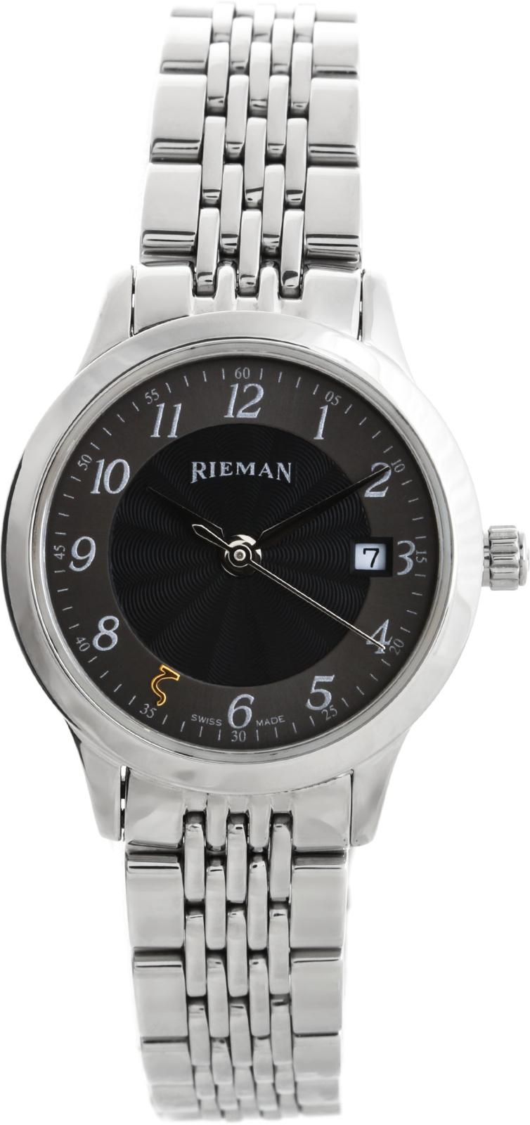 Rieman Radical R6040.132.012Наручные часы<br>Швейцарские часы Rieman Radical R6040.132.012Модель входит в коллекцию Radical. Это настоящие женские часы. Материал корпуса часов — сталь. Циферблат часов защищает сапфировое стекло. Часы этой модели обладают водозащитой 30 м. Основной цвет циферблата черный. Циферблат часов содержит часы, минуты, секунды. В этих часах используются такие усложнения как дата, . Диаметр корпуса 25мм.<br><br>Пол: Женские<br>Страна-производитель: Швейцария<br>Механизм: Кварцевый<br>Материал корпуса: Сталь<br>Материал ремня/браслета: Сталь<br>Водозащита, диапазон: 20 - 100 м<br>Стекло: Сапфировое<br>Толщина корпуса: None<br>Стиль: Классика