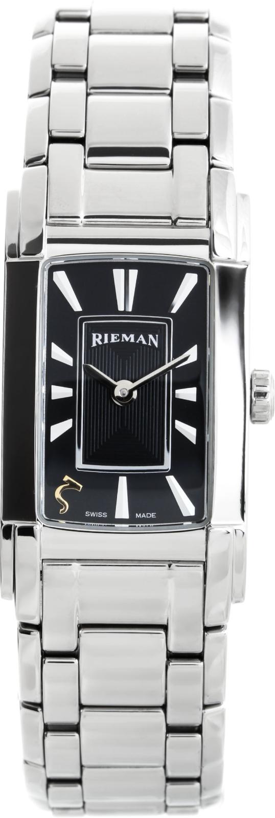 Rieman Integrale Ladies R6440.134.012Наручные часы<br>Швейцарские часы Rieman Integrale Ladies R6440.134.012Представленная модель входит в коллекцию Integrale Ladies. Это стильные женские часы. Материал корпуса часов — сталь. В этих часах используется сапфировое стекло. Часы этой модели обладают водозащитой 30 м. Основной цвет циферблата черный. Циферблат часов содержит часы, минуты. В данной модели используются следующие усложнения: . Диаметр корпуса часов составляет 21х41мм.<br><br>Пол: Женские<br>Страна-производитель: Швейцария<br>Механизм: Кварцевый<br>Материал корпуса: Сталь<br>Материал ремня/браслета: Сталь<br>Водозащита, диапазон: 20 - 100 м<br>Стекло: Сапфировое<br>Толщина корпуса: None<br>Стиль: Классика