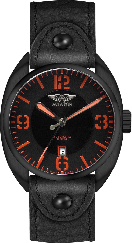 Aviator Propeller R.3.08.5.022.4Наручные часы<br>Швейцарские часы Aviator Propeller R.3.08.5.022.4Данная модель &amp;mdash; яркий представитель коллекции Propeller. Это модные Мужские часы. Материал корпуса часов &amp;mdash; Сталь. Ремень &amp;mdash; Кожа. Циферблат часов защищает Сапфировое стекло. Часы выдерживают давление на глубине 50 м.<br><br>Пол: Мужские<br>Страна-производитель: Швейцария<br>Механизм: Механический<br>Материал корпуса: Сталь<br>Материал ремня/браслета: Кожа<br>Водозащита, диапазон: 20 - 100 м<br>Стекло: Сапфировое<br>Толщина корпуса: None<br>Стиль: None