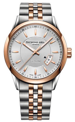 Raymond Weil Freelancer  2730-SP5-65021Наручные часы<br>Швейцарские часы Raymond Weil Freelancer 2730-SP5-65021Представленная модель входит в коллекцию Freelancer . Это настоящие мужские часы. Материал корпуса часов — сталь+золото. В этой модели стоит сапфировое стекло. Водозащита - 100 м. Цвет циферблата - белый. Циферблат часов содержит часы, минуты, секунды. В этих часах используются такие усложнения как дата, . Диаметр корпуса данной модели 42мм.<br><br>Для кого?: Мужские<br>Страна-производитель: Швейцария<br>Механизм: Механический<br>Материал корпуса: Сталь+Золото<br>Материал ремня/браслета: Сталь+Золото<br>Водозащита, диапазон: 100 - 150 м<br>Стекло: Сапфировое<br>Толщина корпуса: None<br>Стиль: Классика