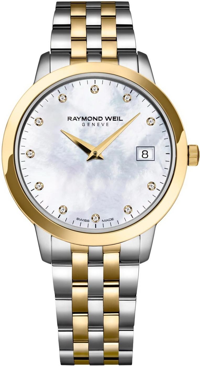 Raymond Weil Toccata 5388-STP-97081Наручные часы<br>Швейцарские часы Raymond Weil Toccata 5388-STP-97081<br><br>Для кого?: Женские<br>Страна-производитель: Швейцария<br>Механизм: Кварцевый<br>Материал корпуса: Сталь<br>Материал ремня/браслета: Сталь<br>Водозащита, диапазон: 20 - 100 м<br>Стекло: Сапфировое<br>Толщина корпуса/: <br>Стиль: Классика