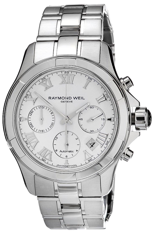 Raymond Weil Parsifal 7260-ST-00308Наручные часы<br>Швейцарские часы Raymond Weil Parsifal 7260-ST-00308Модель входит в коллекцию Parsifal. Это модные мужские часы. Материал корпуса часов — сталь. Стекло - сапфировое. Водозащита - 100 м. Цвет циферблата - белый. Диаметр корпуса 39мм.<br><br>Для кого?: Мужские<br>Страна-производитель: Швейцария<br>Механизм: Механический<br>Материал корпуса: Сталь<br>Материал ремня/браслета: Сталь<br>Водозащита, диапазон: 100 - 150 м<br>Стекло: Сапфировое<br>Толщина корпуса/: <br>Стиль: Классика