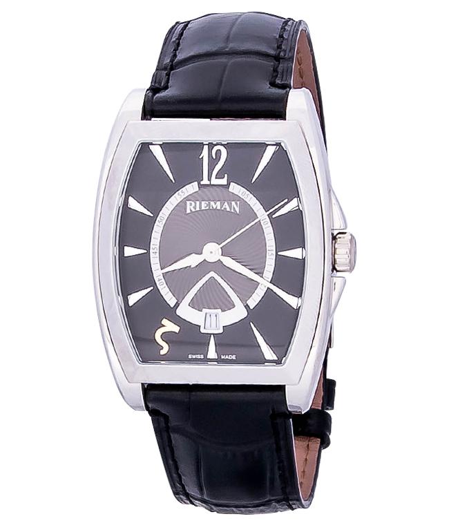 Rieman Bernhard R1540.136.212Наручные часы<br>Швейцарские часы Rieman Bernhard R1540.136.212Модель входит в коллекцию Bernhard. Это модные мужские часы. Материал корпуса часов — сталь. Циферблат часов защищает сапфировое стекло. Водозащита этой модели 30 м. Основной цвет циферблата черный. Из основных функций на циферблате представлены: часы, минуты, секунды. В данной модели используются следующие усложнения: дата, . Диаметр корпуса 36.5х50мм.<br><br>Для кого?: Мужские<br>Страна-производитель: Швейцария<br>Механизм: Кварцевый<br>Материал корпуса: Сталь<br>Материал ремня/браслета: Кожа<br>Водозащита, диапазон: 20 - 100 м<br>Стекло: Сапфировое<br>Толщина корпуса: None<br>Стиль: Классика