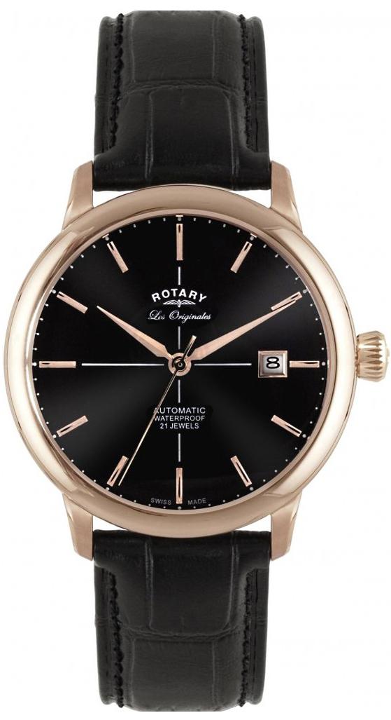 Rotary Les Originales GS90061/04Наручные часы<br>Швейцарские часы Rotary Les Originales GS90061/04<br><br>Для кого?: Мужские<br>Страна-производитель: Швейцария<br>Механизм: Механический<br>Материал корпуса: Сталь<br>Материал ремня/браслета: Кожа<br>Водозащита, диапазон: 20 - 100 м<br>Стекло: Сапфировое<br>Толщина корпуса: 14 мм<br>Стиль: Классика
