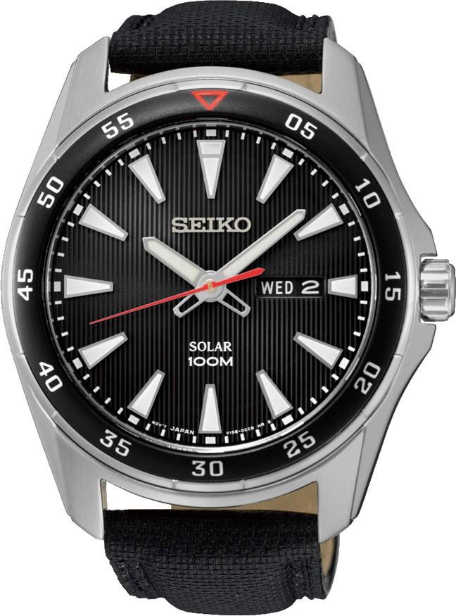 Seiko CS Sports SNE393P2SНаручные часы<br>Японские часы Seiko CS Sports SNE393P2S<br><br>Для кого?: Мужские<br>Страна-производитель: Япония<br>Механизм: Кварцевый<br>Материал корпуса: Сталь<br>Материал ремня/браслета: Кожа+текстиль<br>Водозащита, диапазон: 100 - 150 м<br>Стекло: Минеральное<br>Толщина корпуса: 11 мм<br>Стиль: Классика