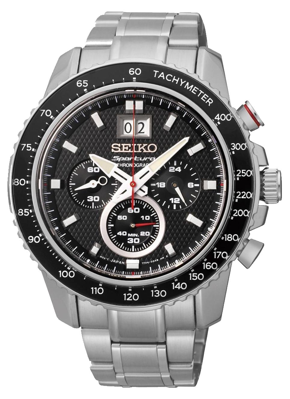 Seiko Sportura SPC137P1Наручные часы<br>Японские часы Seiko Sportura SPC137P1<br><br>Для кого?: Мужские<br>Страна-производитель: Япония<br>Механизм: Кварцевый<br>Материал корпуса: Сталь<br>Материал ремня/браслета: Сталь<br>Водозащита, диапазон: 100 - 150 м<br>Стекло: Сапфировое<br>Толщина корпуса: None<br>Стиль: Спорт