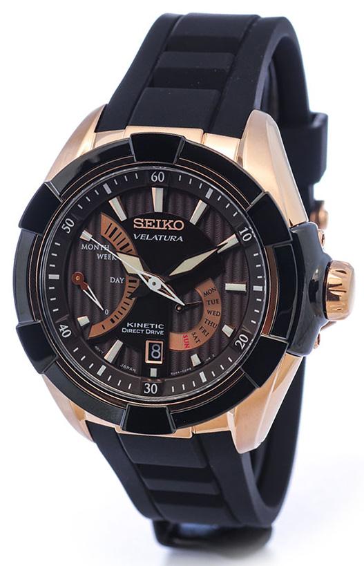 Seiko Velatura  SRH020P1Наручные часы<br>Японские часы Seiko Velatura SRH020P1Часы входят в модельный ряд коллекции Velatura . Это настоящие Мужские часы. Материал корпуса часов — Сталь. Ремень — Каучук. В этих часах используется Сапфировое стекло. Водозащита этих часов 100 м. Основной цвет циферблата Коричневый. Циферблат содержит часы, минуты, секунды. В данной модели используются следующие усложнения: дата, день недели, запас хода, . Диаметр корпуса данной модели 46,3мм.<br><br>Для кого?: Мужские<br>Страна-производитель/: <br>Механизм: Кинетик<br>Материал корпуса: Сталь<br>Материал ремня/браслета: Каучук<br>Водозащита, диапазон/: <br>Стекло: Сапфировое<br>Толщина корпуса: 12 мм<br>Стиль: Классика