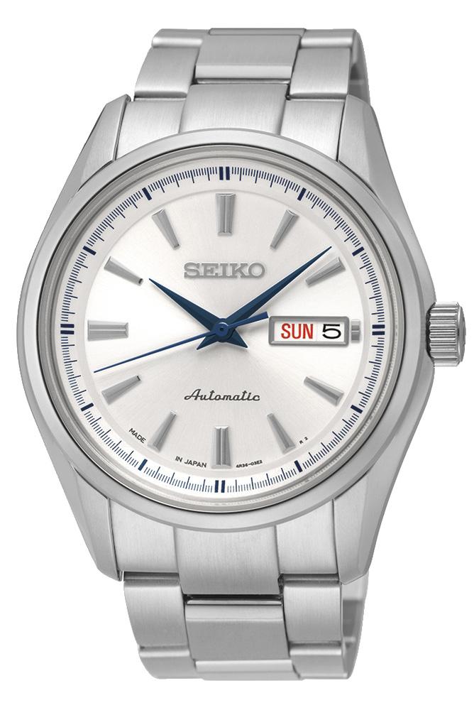 Seiko Presage SRP527J1SНаручные часы<br>Японские часы Seiko Presage SRP527J1S<br><br>Для кого?: Мужские<br>Страна-производитель: Япония<br>Механизм: Механический<br>Материал корпуса: Сталь<br>Материал ремня/браслета: Сталь<br>Водозащита, диапазон: 100 - 150 м<br>Стекло: Сапфировое<br>Толщина корпуса/: <br>Стиль: Классика