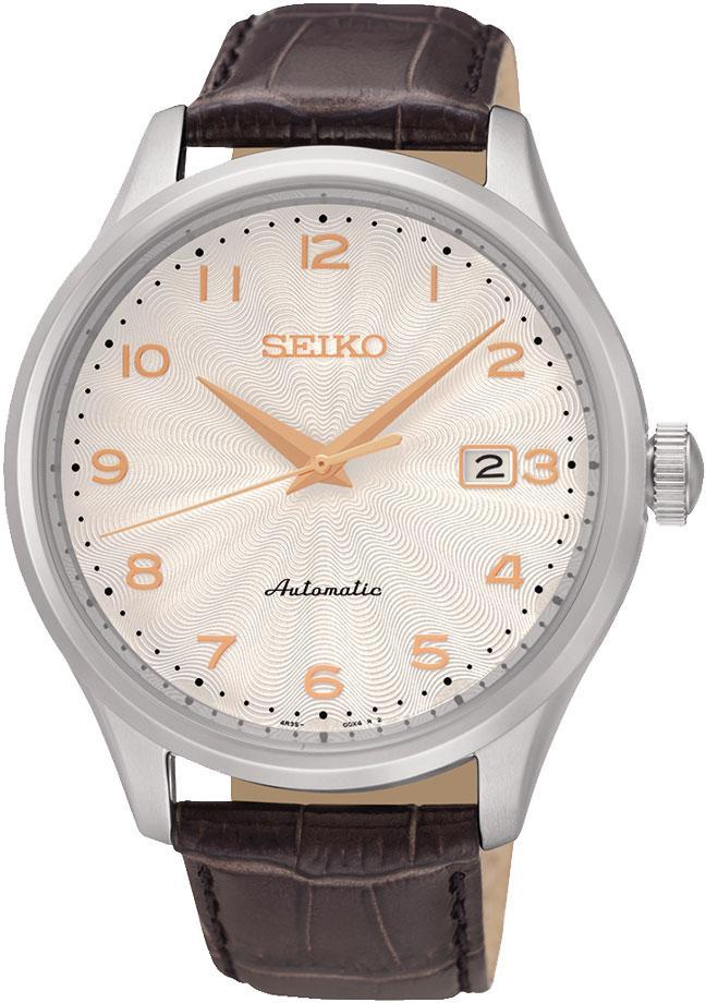 Seiko CS Dress SRP705K1Наручные часы<br>Японские часы Seiko CS Dress SRP705K1<br><br>Для кого?: Мужские<br>Страна-производитель: Япония<br>Механизм: Механический<br>Материал корпуса: Сталь<br>Материал ремня/браслета: Кожа<br>Водозащита, диапазон: 100 - 150 м<br>Стекло: Минеральное<br>Толщина корпуса: None<br>Стиль: Классика