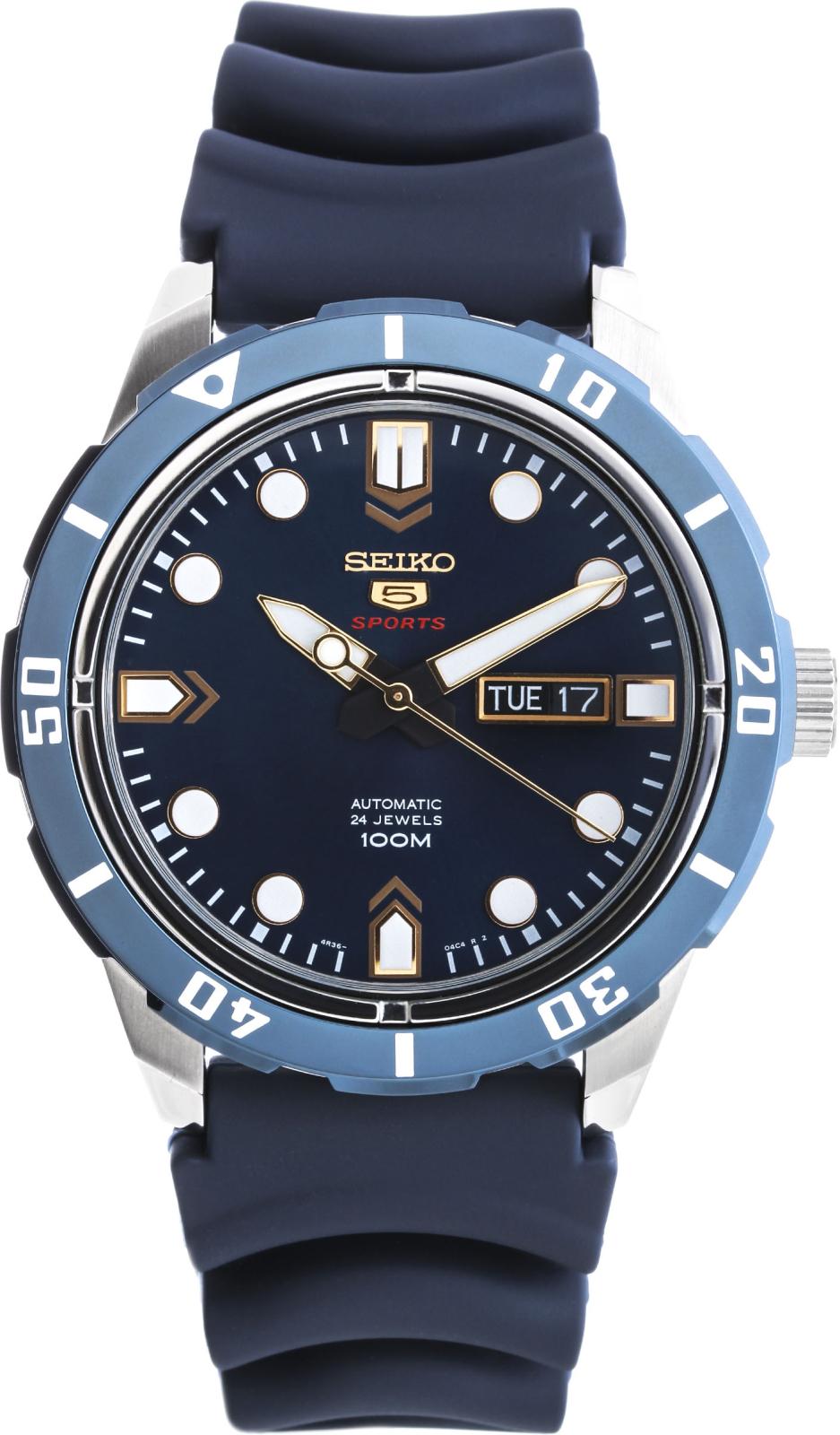 Seiko CS Sports SRP677K2SНаручные часы<br>Японские часы Seiko Seiko5 Sports SRP677K2S<br><br>Для кого?: Мужские<br>Страна-производитель: Япония<br>Механизм: Механический<br>Материал корпуса: Сталь<br>Материал ремня/браслета: Каучук<br>Водозащита, диапазон: 100 - 150 м<br>Стекло: Минеральное<br>Толщина корпуса: None<br>Стиль: Классика