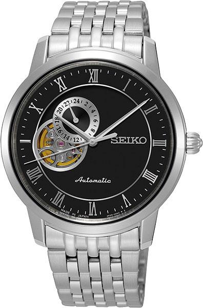 Seiko Presage SSA271J1Наручные часы<br>Японские часы Seiko Presage SSA271J1<br><br>Для кого?: Мужские<br>Страна-производитель: Япония<br>Механизм: Механический<br>Материал корпуса: Сталь<br>Материал ремня/браслета: Сталь<br>Водозащита, диапазон: 20 - 100 м<br>Стекло: Сапфировое<br>Толщина корпуса: 11 мм<br>Стиль: Классика