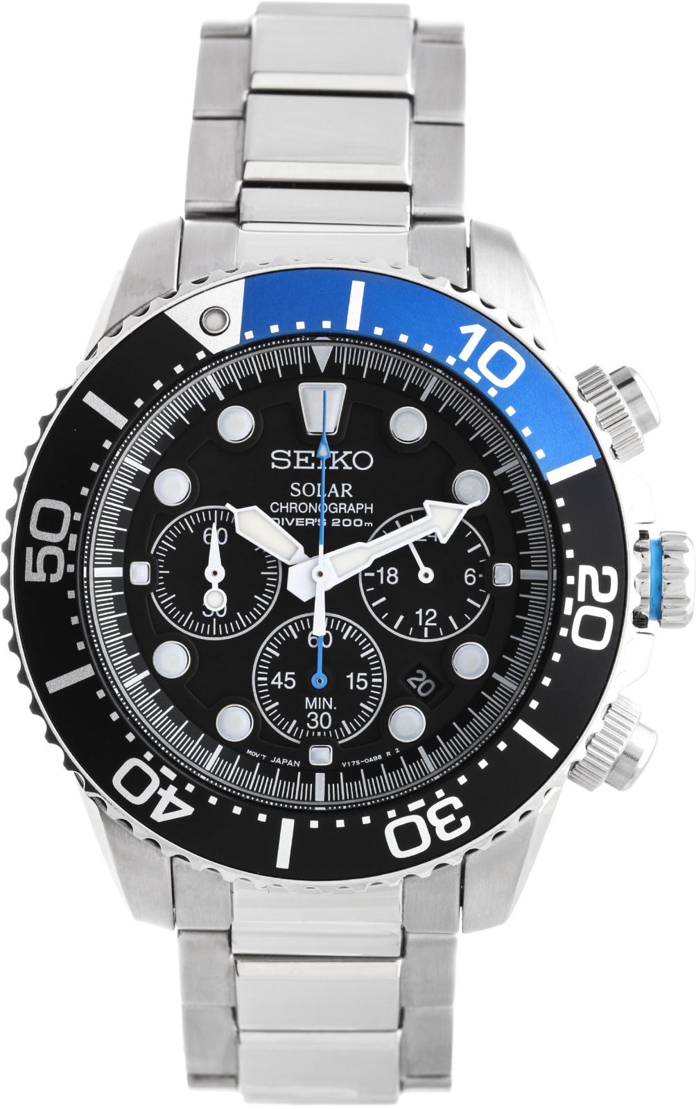 Seiko CS Sports SSC017P1Наручные часы<br>Японские часы Seiko CS Sports SSC017P1<br><br>Для кого?: Мужские<br>Страна-производитель: Япония<br>Механизм: Кварцевый<br>Материал корпуса: Сталь<br>Материал ремня/браслета: Сталь<br>Водозащита, диапазон: 200 - 800 м<br>Стекло: Минеральное<br>Толщина корпуса: 12 мм<br>Стиль: Спорт