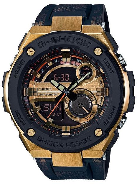 Casio G-shock G-Steel GST-200CP-9AНаручные часы<br>Японские часы Casio G-shock G-Steel GST-200CP-9A<br><br>Пол: Мужские<br>Страна-производитель: Япония<br>Механизм: Кварцевый<br>Материал корпуса: Сталь+пластик<br>Материал ремня/браслета: Каучук<br>Водозащита, диапазон: None<br>Стекло: Минеральное<br>Толщина корпуса: 16,1 мм<br>Стиль: None